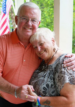 """Marblehead: Longtime Marblehead residents John and Johanna """"Josie"""" Crowley, will be celebrating their 51st wedding anniversary in September. David Le/Marblehead Home and Style Magazine"""