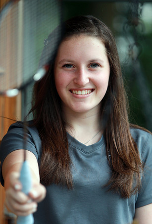 Marblehead: 15-year-old Marblehead native Nicole Frevold is one of the premiere players in the Marblehead Youth Badminton Program. The Marblehead High School sophomore participates in National and International Tournaments and recently traveled to Israel to participate in the Maccabi Games. David Le/Marblehead Home and Style Magazine