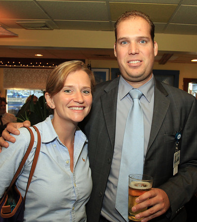 Marblehead: Deborah Rouine and Christian Hassel at the Marblehead Chamber of Commerce's Annual Meeting held at The Landing. David Le/Marblehead Home & Style Magazine