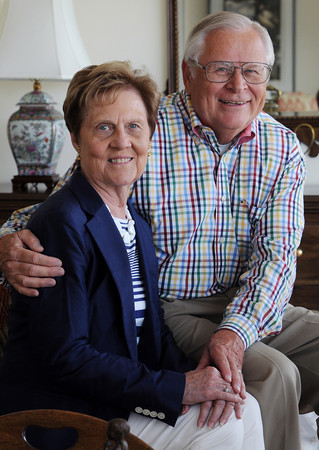 MARBLEHEAD HOME AND STYLE Magazine:<br /> Judy and Gene Jacobi will celebrate their 50th anniversary in August 2013. <br /> <br /> Photo by Ken Yuszkus , Friday, July 19, 2013.