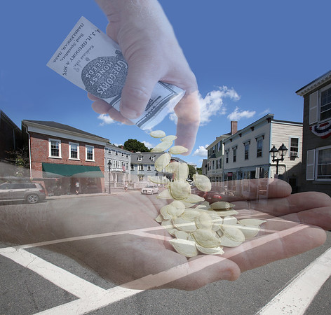 Photo illustration by Ken Yuszkus. The street in the photo is Washington Street at the corner of Hooper Street in Marblehead.