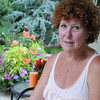 Marblehead:<br /> Pat Ayer in her backyard garden. <br /> Photo by Ken Yuszkus/Salem News, Tuesday, July 12, 2011.