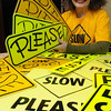 Marblehead:<br /> Katie Reilly started a campaign in Marblehead to get drivers to slow down. It's turned into an organization, Slow, Please inc. <br /> <br /> Photo by Ken Yuszkus/Salem News, Friday,  February 24, 2012.