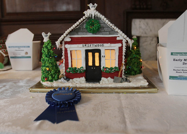 One of the gingerbread houses on display at the Lee Hooper Mansion during the 2011 Christmas Walk. David Le/Marblehead Magazine