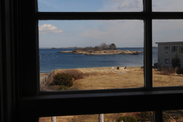 Marblehead:<br /> The view from the upstairs' bath room window at Judy Anderson's home at 31 Orne Street in Marblehead.<br /> <br /> Photo by Ken Yuszkus/Salem News, Wednesday,  February 22, 2012.