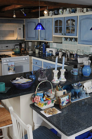 Marblehead:<br /> The kitchen at Judy Anderson's home at 31 Orne Street in Marblehead.<br /> <br /> Photo by Ken Yuszkus/Salem News, Wednesday,  February 22, 2012.