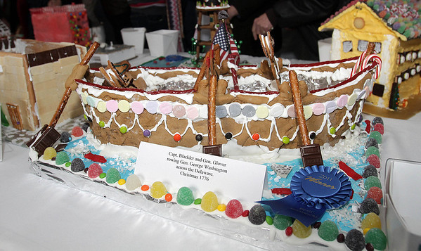 One of the most popular gingerbread displays at the Lee Hooper Mansion during the 2011 Christmas Walk. David Le/Marblehead Magazine