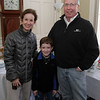 Liz, Michael, 8, and Joe Cunniff, of Marblehead at the Lee Hooper Mansion during the 2011 Christmas Walk. David Le/Marblehead Magazine