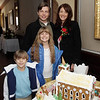 From left, Trey, 6, Brooke, 9, Brad, and Michelle Stout, of Swampscott at the Lee Hooper Mansion during the 2011 Christmas Walk. David Le/Marblehead Magazine