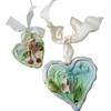 Ceramic lark Hearts. C'Est La Vie.