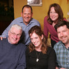 Out and About for Marblehead Magazine Summer 2009 issue. KIPP (Knowledge is Power Program) dinner at The Landing Restaurant in Marblehead. Photo by Matthew Viglianti/Staff Photographer Tuesday, April 21, 2009.<br /> <br /> From left to right, Mike Daley, Scott Sarazen, Annie Rockwell, Kate Daley, and Jeff Rockwell, all from Marblehead, at the dinner.
