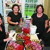 Marblehead:Ê Event organizers prepare the antipasto, from left, co-host Carol Shube of Marblehead, Deb Wheeler of Beverly, Heidi Greenbaum also of Beverly and Janice Goranson of Marblehead, at Shubie's Harvest Wine & Food Festival to benefit the Friends of Marblehead Public Schools and the Marblehead Museum and Historical Society, Friday, at the Jeremiah Lee Mansion, Marblehead. Photo by Frank J. Leone, Jr.