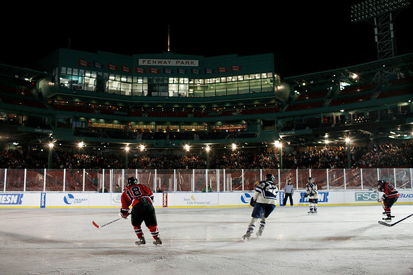 Boston: Marblehead and Winthrop take the ice at Fenway Park.  Photo by Liz Curtis