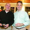 Steve Lipsky, left, and John Sullivan, both of Marblehead enjoy a drink during the 6th annual Octoberfest held at Corinthian Yacht Club.