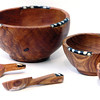 Olive wood bowls and spoons from kenya, Comina.
