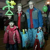 Marblehead: From left, Andrew Wanstall, 9, Emma Wanstall, 5, and their grandparents, Priscilla and Bob LaBonte of Marblehead, at the 2009 Marblehead Home and Garden Show at the Marblehead Community Center.