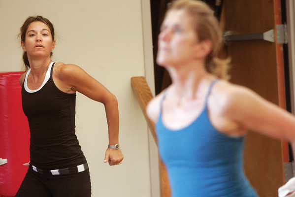 Students take part in Dancenergy, during a morning session at  Gravity Fitness Club. Photo by Mark Lorenz