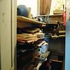 Marblehead:<br /> Deborah Greel, executive director, Jane Weiss, and Liz Clement search a closet at the Marblehead Arts Association for hidden forgotten art treasures.<br /> Photo by Ken Yuszkus/Salem News, October 8, 2008.