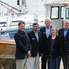 Marblehead:<br /> From left to right, Dan Himes, current commander of the Marblehead Sail and Power Squadron, and past commanders, John Bedrossian, Dan Shea, Gin Osman, Stephen Jerome, standing at the State Street Landing.<br /> Photo by Ken Yuszkus/Salem News, Monday May 4, 2009.