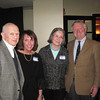 Larry Claflin Jr. photo<br /> From left, Marblehead residents Marshall Bauer, Jane Zimmer, Betsy Jacobson and Francis Mayo, a past president of of the Salem Athenaeum, attend a reception to celebrate the bicentennial year of the organization  at at 62on Wharf restaurant in Salem.