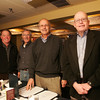 Out and About for Marblehead Magazine Summer 2009 issue. KIPP (Knowledge is Power Program) dinner at The Landing Restaurant in Marblehead. Photo by Matthew Viglianti/Staff Photographer Tuesday, April 21, 2009.<br /> <br /> From left to right, David Zoia, Richard Schalck, Bob Weiner, and Rod Smith at the dinner.