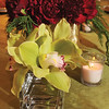 Marblehead:<br /> Three different floral table arrangements appropriate for holidays Ñ Christmas, Hanukkah and New YearÕs, all created by Tracey Scott, owner and designer at Roses and Thistle Floral Boutique.<br /> Photo by Ken Yuszkus/Salem News, Wednesday October 28, 2009.