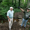 The newest addition to Marblehead's conservation lands, the Robinson Farm, was purchased by the Town in 2005. For almost 200 years this 3.5 acre site was a working dairy farm and now is open to the public for passive enjoyment. Here Don Morgan and Bob French of the Marblehead Conservancy talk about the property while walking through one of it's trails.