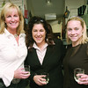 From left, Susan Hassett, Ann Marie Casey, and Katherine Koch pose during a wine and cheese reception at DS Designs in Marblehead after a day of fundraising for the organization on Thursday, October 23, 2008. Hassett, a Marblehead resident, is a member of a Room to Grow development committee, and helped organize the Moms in Marblehead fundraising day for the organization. Room to Grow provides parents raising babies in poverty with one-one-one parenting support during the child's first three years. Casey is executive director for the Marblehead Chamber of Commerce, and Koch is assitant to the executive director there.