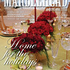 Marblehead Magazine, Winter 2009-10 cover. Holiday table <br /> by ken yuszkus