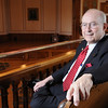 Marblehead:<br /> Retired Judge Joseph Dever in Abbot Hall.<br /> Photo by Ken Yuszkus/Salem News, Wednesday May 6, 2009.