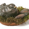 Marblehead Magazine Found Items - Spring 2009.pewter bird garden ornament.
