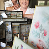 Marblehead:<br /> Susan Newberg ( dark hair ) and Phyllis Tracy ( light hair, and slighter build ) own Neptune1 Designs, a company that makes Decoupage plates with historic patterns, many of them with scenes with Marblehead themes.<br /> Photo by Ken Yuszkus/Salem News, Wednesday, September 16, 2009.