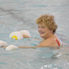 Marblehead:<br /> Linda Elsaesser uses the barbell floats during the water aerobics class instructed by Cheryl Verrette at the Marblehead YMCA on Thursday morning.<br /> Photo by Ken Yuszkus/Salem News, Thursday,  October 28, 2010.