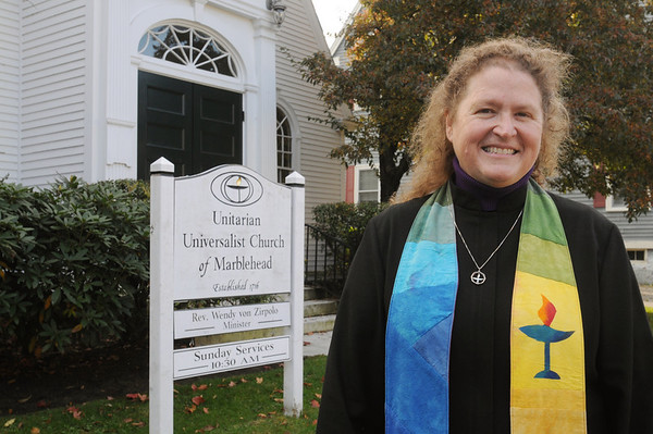 Marblehead:<br /> Rev. Wendy von Zirpolo,  is a minister of the Unitarian Universalist Church of Marblehead and active in a number of social justice issues, including immigration reform.<br /> Photo by Ken Yuszkus/Salem News, Tuesday,  October 26, 2010.