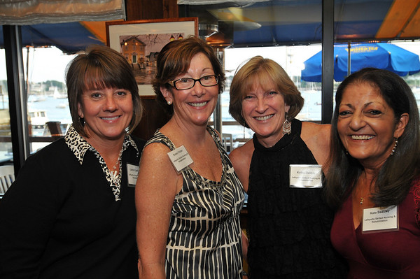 From left, Lauri Lachance, Susan Fisher, Kathy Delisle, and Kate Keesley all from Lafayette Skilled Nursing and Rehabilitation.  photo by Mark Teiwes / Salem News