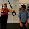 Marblehead: Kristen Settelmeyer and trainer, Kiki Walker at Chakra personal training, located at 12 Atlantic Ave.
