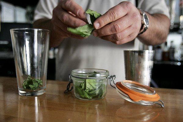 A Rickshaw at the 5 Courners Kitchen in Marblehead is made with Basil leaves. Photo by deborah parker/november 3, 2010