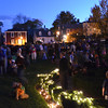 "Marblehead: People pack the yard of the Lee Mansion for the annual ""Pumpkin Illumination"". photo by Mark Teiwes"