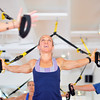 Marblehead: At Energy Within Lisa Gillis trains a group in TRX suspension systems<br /> photo by Mark Teiwes