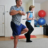 Marblehead:  Beth Johnson, Energy Within owner, trains with Steve Roy on golf form and muscle conditioning as part of the Titelist Golf Fitness program.<br /> photo by Mark Teiwes