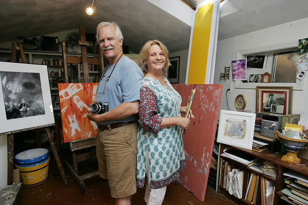 John and Jean Fogle are visible members of the arts and culture community on the North Shore. John is Artistic Director of the Salem Theatre Company,  an actor and is also a photographer.  Jean, his wife, is a painter. photo by deborah parker/july 20, 2010
