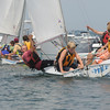 Marblehead:<br /> From left, Ryan Jones, Drake Blodgett, Jeremy Dingle, and Hale Davies sail their boat during the adventure class held at the Pleon Yatch Club.<br /> Photo by Ken Yuszkus/Salem News, Tuesday, July 13, 2010.