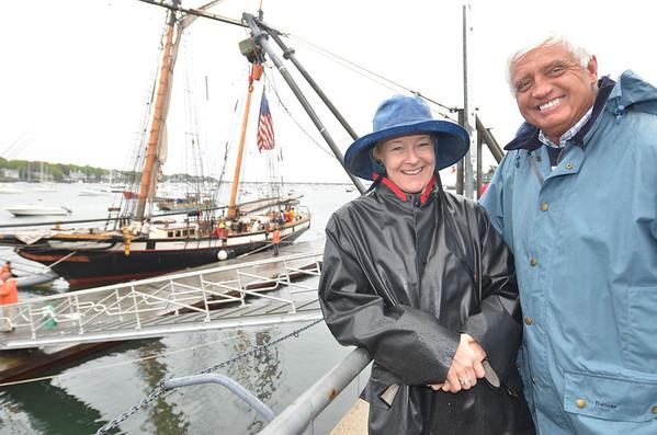 Betsy Hoffman Hundahl and Doug Hill, both of Marblehead.