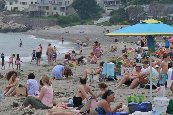 Mablehead: Devereaux Beach is packed on a summer day. photo by Mark Teiwes