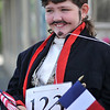 Marblehead: Hannah Casey, 11, of Marblehead, dressed as Marquis De Lafayette for the Horrible's parade     photo by Mark Teiwes