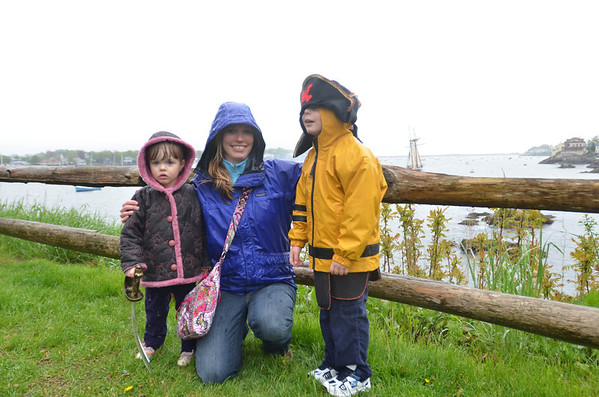 Kathleen Toto of Marblehead with her kids Ava, 2, and Alby, 4.