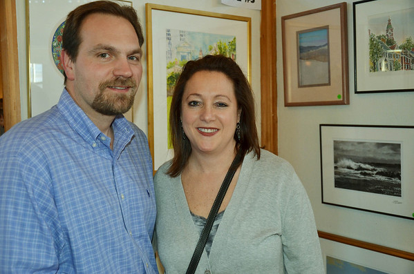 The Marblehead Festival of Arts annual Art Auction.   <br /> Don and Jill Rose of Marblehead.