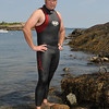 Marblehead:<br /> Christopher Swain is at Little Harbor. Christopher is an environmentalist and educator, who swims for clean water, in Little Harbor.<br /> Photo by Ken Yuszkus/Salem News, Monday, August 2, 2010.
