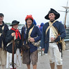 Glover's Marblehead Regiment, from left, Tom Frary of Salem, and Francie King, Bob Erbetta, and Steve Orne, from Marblehead.