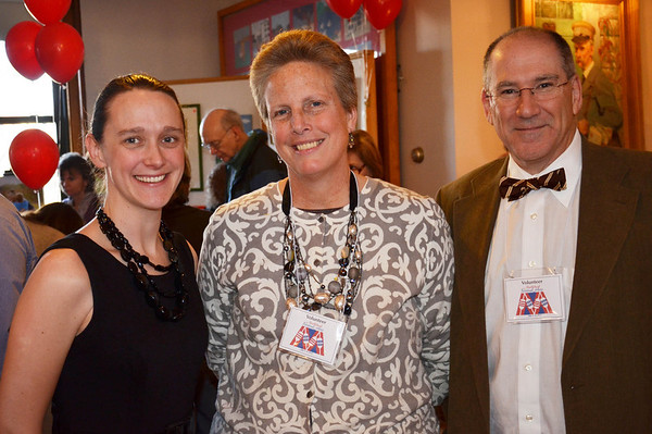 The Marblehead Festival of Arts annual Art Auction.   <br /> Pictured from left, Phebe Hunter, Janet and Peter Barnet, all from Marblehead.